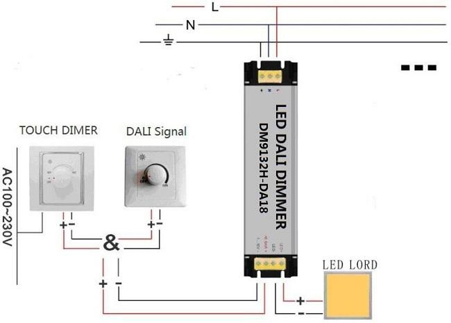 18W Constant Current DALI LED Controller With Aluminium Alloy Shell AC100V - 240V