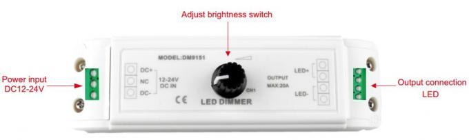 Constant Voltage PWM LED Dimmer , Stepless Dimming LED Dimmer Controller