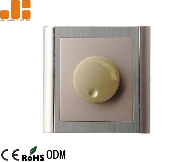 0 - 100% Triac Dimming LED Dimmer Switch With Golden Appearance 86*86 Knob Switch