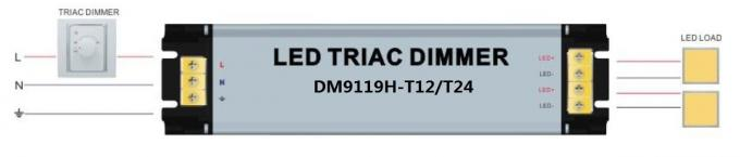 PWM Signal Electronic LED Dimmer , Aluminium Housing Triac LED Driver Dimmer