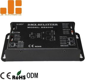 China 1 In 2 Out DMX Signal Splitter High Voltage Isolation Technology Available supplier