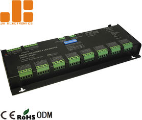 China 32 Channels Black LED DMX512 Decoder For RGBW Lighting Constant Voltage PWM Signal supplier