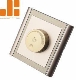 China 0 - 100% Triac Dimming LED Dimmer Switch With Golden Appearance 86*86 Knob Switch supplier