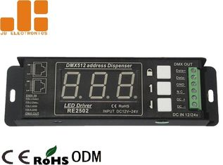 China Single Channel DMX Signal Splitter With Digital Display Address Mode DC12V - 24V supplier
