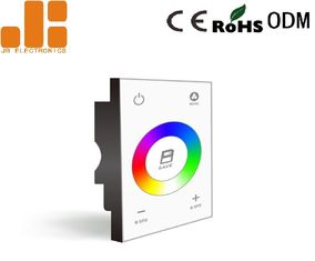 China DMX512 Signal White Dimmer Switch , 86*86 Glass Panel Dimmer Control Switch supplier
