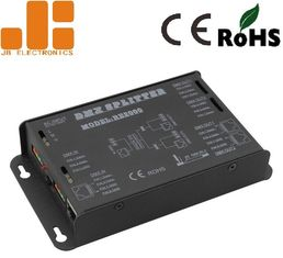 China Standard DMX Signal Splitter LED Dimmer Controller With 2 Channels DMX512 Output supplier