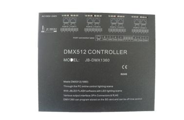 4096 Channels AC100-240V Black DMX512 Master Controller Remote Control Available
