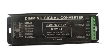 DMX To 0 - 10V PWM Signal Converter Full Protective Aluminum Housing Available