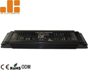 Max 200W Black DALI LED Driver , DC12V / DC24V PWM Signal Strip Light Dimmer