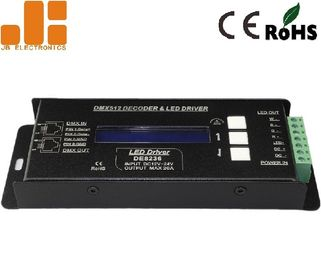 China DMX512 Decoder LED Dimmer Controller With RJ45 Pluggable Terminals 300g factory